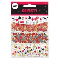 Casino konfetti - 34g påse med bordskonfetti - 14 g