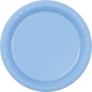 Ljusblå plasttallrikar - 2 varianter