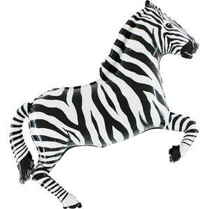 Folieballong - Zebra Shape