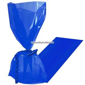Kungsblå cellofan kalaspåsar - 25 st