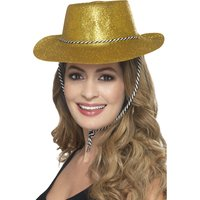 Cowboy Glitterhat Guld