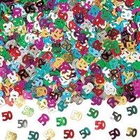 50-års födelsedag - Konfetti till bord/inbjudningar - 14 g