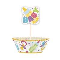 Cupcake kit - Baby shower 24 st