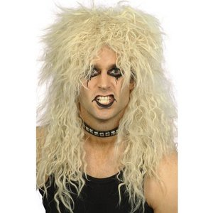 Peruk hårdrock blond