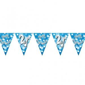 Vimpelbanderoll ljusblå för 21-årsdagen - 4m