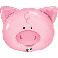 Lekfull gris folieballong till födelsedagen - 76 cm