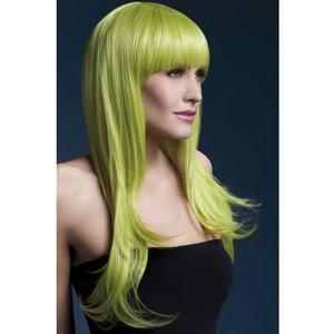 Peruk Sienna lång vågig - grön