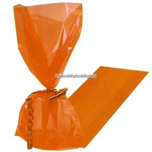 Orange cellofan kalaspåsar - 25 st