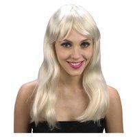 Blond peruk långt vågigt