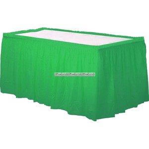 Grön bordskjol i plast - 73cm x 426cm