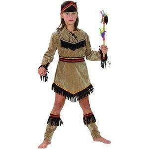 Indianflicka maskeraddräkt för barn