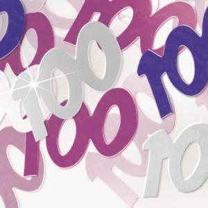 100-års födelsedag rosa bordskonfetti festdekoration - 14g