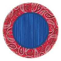 Bandana & Blue Jeans - Papperstallrikar till fest 26 cm - 8 st