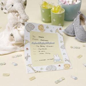 Baby Miffy inbjudningskort - 10 st