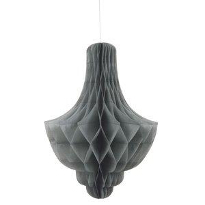 Honeycomb ljuskrona - Silvrig