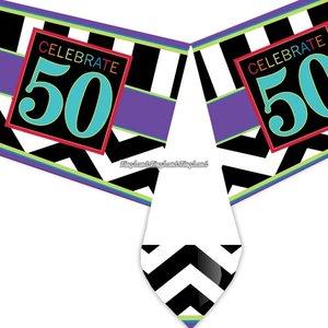 50-års födelsedag bordsduk i plast - 137cm x 259cm
