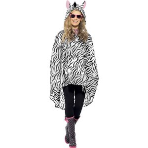 Zebra poncho maskeraddräkt