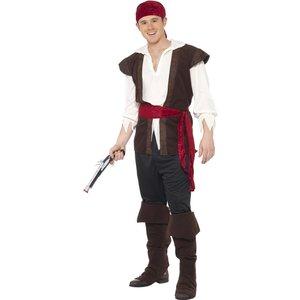 Svart pirat maskeraddräkt