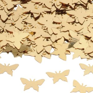 Bordskonfetti fjärilar i guld - 14 g