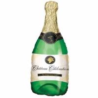 Champagneflaska folieballong - 97 cm