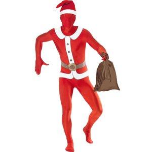 Second skin-dräkt, jultomte maskeraddräkt