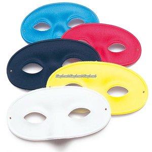 Domino maskeradmasker - blandade färger