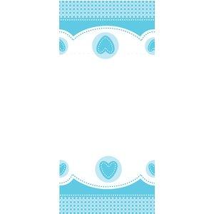 Blå söt babyelefant bordsduk i plast