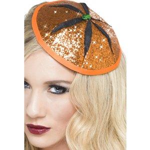 Magisk pumpa hatt - orange med glitter