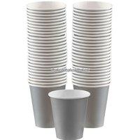 Silverfärgade kaffemuggar 340 ml - 40 st