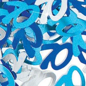Bordskonfetti 70-års födelsedag festdekoration blått - 14g