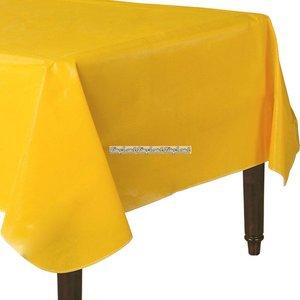 Gul bordsduk i vinyl med baksida av flanell - 132cm x 228cm