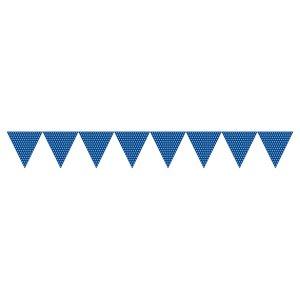 Navyblå prickiga vimplar - papper 1.7m