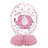 Bordsdekorationer - Baby shower rosa 4 st