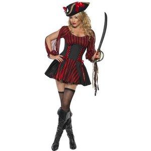 Pirat maskeraddräkt svart och röd