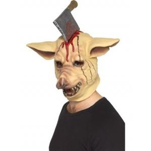 Grishuvudsmask med slaktarkniv