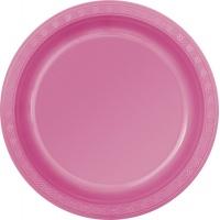 Rosa plasttallrikar - 2 varianter