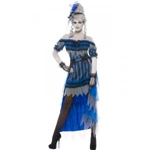 Spöklik Saloon tjej maskeraddräkt