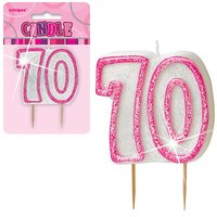 70-års födelsedagsljus - rosa