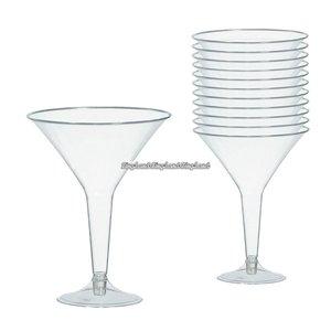 Transparenta martiniglas i plast 227 ml - 20 st