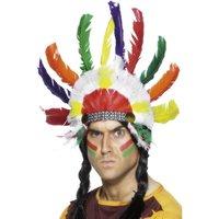 Indian huvudbonad flerfärgad