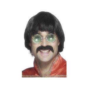 1970-tals Mersey peruk &amp  mustasch