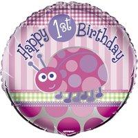 Folieballong - Nyckelpiga 1-års födelsedag