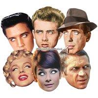 Ansiktsmasker hollywoodstjärnor - 6 st