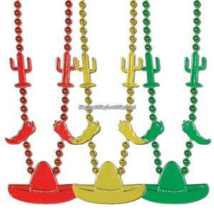 Fiesta Party pärlhalsband till festen - 3 st