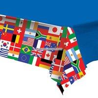Bordsduk i plast internationella flaggor