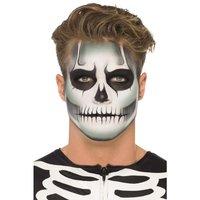 Självlysande skelett make up set