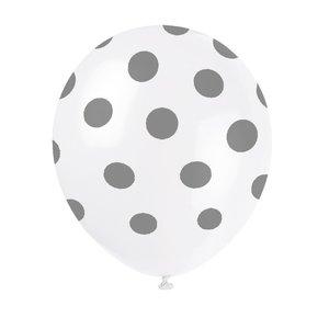 Prickiga ballonger - Silvriga 6 st