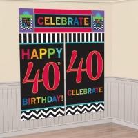 40-års födelsedag dekorbakgrund