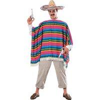 Mexikansk poncho och sombrerohatt dräkt