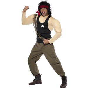 Rambo maskeraddräkt - Medium